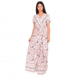Λευκό Φλοράλ Maxi Φόρεμα...