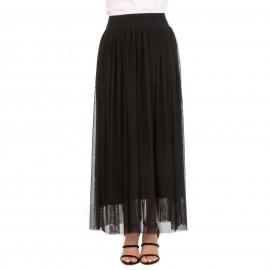 Μαύρη Maxi Φούστα με Τούλι