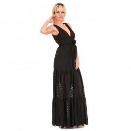 Μαύρο Αμάνικο Maxi Φόρεμα...