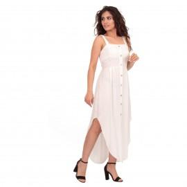 Λευκό Ασύμμετρο Midi Φόρεμα...
