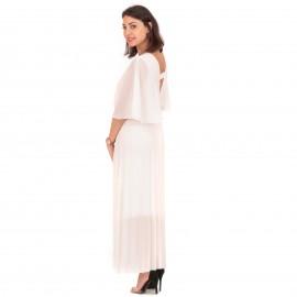 Λευκό Maxi Φόρεμα Κρουαζέ...