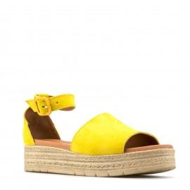 Κίτρινο Δερμάτινο Flatform...