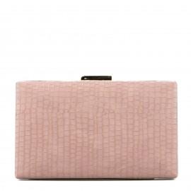 Ροζ Κροκό Clutch Τσαντάκι