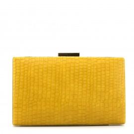 Κίτρινο Κροκό Clutch Τσαντάκι