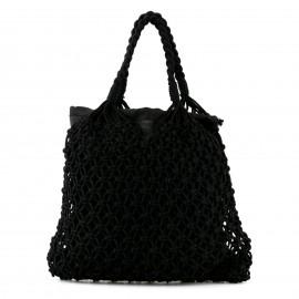 Μαύρη Πλεκτή Τσάντα Ώμου