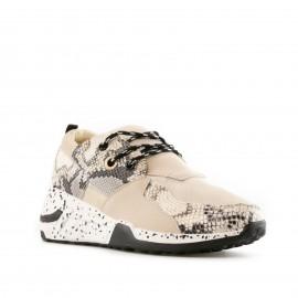Μπεζ Sneakers με Snake...