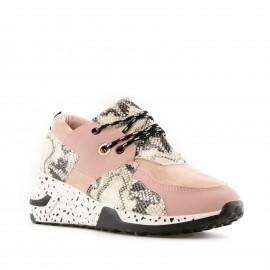 Ροζ Sneakers με Snake Print...